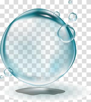 ilustração de bolha clara, ícone de bolha, gotas de água png