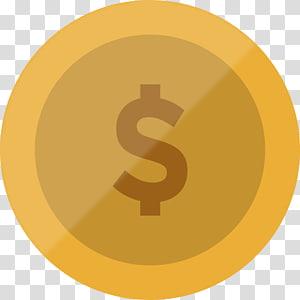 arte gráfica de token de dólar, ícone de moeda ICO dinheiro, moeda png