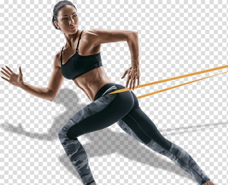 mulher exercitando, faixas de exercício Fitness Center musculação pull-up, clube de fitness png