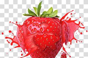 close-up de frutas de morango, Suco Milkshake de morango Frutti di bosco Sabor, Morango HD png