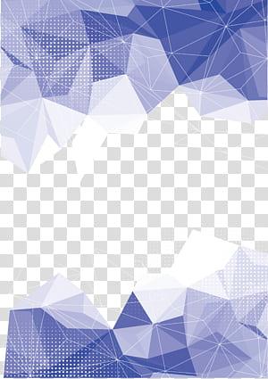 Arte geométrica de fundo geométrico, azul e branco PNG clipart