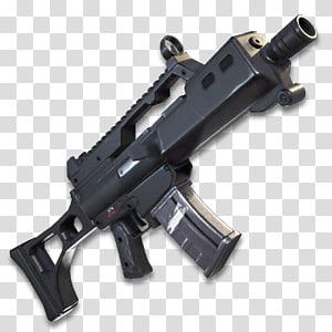 ilustração de rifle preto, Fortnite Battle Royale PlayStation 4, metralhadora, espingarda de assalto png