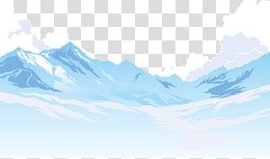 montanhas brancas sob ilustração de nuvem branca, montanha polígono euclidiano, iceberg PNG clipart