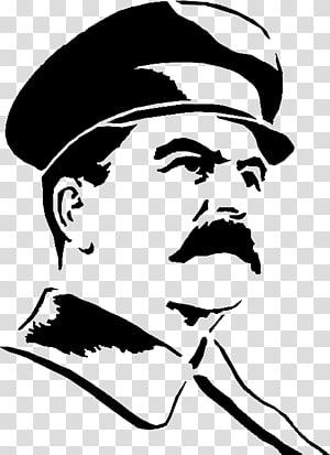homem usando chapéu arte, esboço de desenho, Stalin png