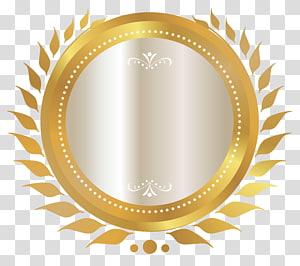 espelho redondo com ilustração em ouro, camiseta com capuz com gola, selo de ouro PNG clipart