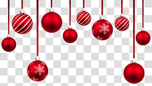 Enfeite de Natal, decoração de bolas penduradas de Natal vermelho, enfeites de natal vermelhos png