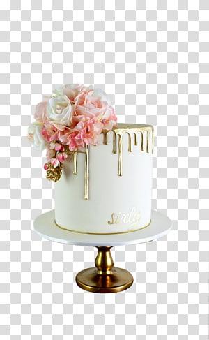 rosas cor de rosa e brancas em um vaso branco, bolo de casamento bolo de aniversário creme pingando bolo, bolo de rosa png