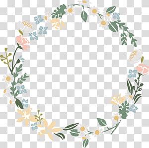 design floral de grinalda, aquarela grinalda de flor, modelo de grinalda de flor branca e rosa PNG clipart