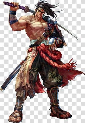 personagem de desenho animado de cabelo preto, soulcalibur iv borda de alma soulcalibur v soulcalibur ii, samurai PNG clipart