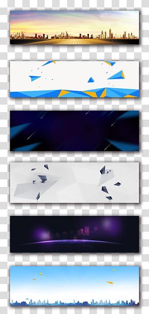 Web banner Advertising Poster Publicidade, fundo, seis pinturas em tela PNG clipart