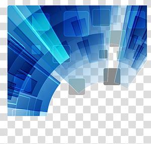 fundo geométrico azul, azul e branco PNG clipart