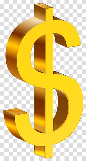 Dólar dos Estados Unidos cifrão, dólar de ouro, ilustração de cifrão png