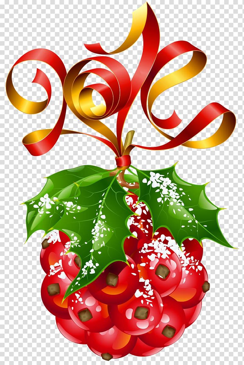 azevinho vermelho e verde, dia de ano novo Natal e feriado Feriado público, visco enfeite de natal png