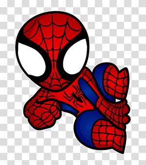Homem-Aranha, Homem-Aranha, Capitão América Super-herói Chibi Desenho, homem-aranha chibi png