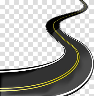 estrada curva, estrada ilustração, estrada png