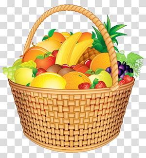 ilustração de cesta de frutas, cesta de cesta de frutas, cesta de frutas png