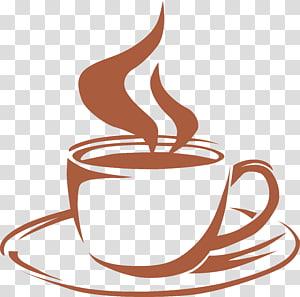 Café Latte macchiato Cappuccino Cafe, copo de café pintado à mão mapa png