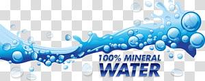 Ilustração de água mineral 100%, Ilustração euclidiana de gota de água, material de gotas de água azul png