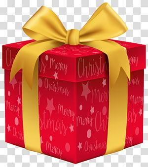 ilustração de caixa de presente vermelha e amarela, presente de Natal, presente de feliz Natal vermelho png