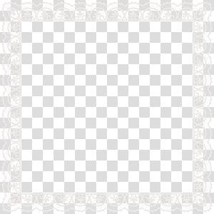 arte quadrada de quadro branco, preto e branco padrão de ponto de ângulo, quadro de rendas PNG clipart