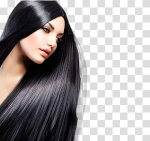 ilustração de mulher de cabelos pretos, salão de beleza cabeleireiro alisamento coloração de cabelo, modelo PNG clipart