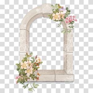 Fronteira floral design material floral criativo, ilustração de flor de pétalas de rosa png