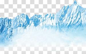 ilustração de montanha de neve, sorvete Iceberg recreação ao ar livre luva, iceberg PNG clipart