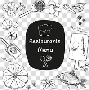Ilustração do menu de restaurantes, Pasta Cafe Restaurant Menu Chef, Sketch restaurant menu png