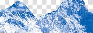 montanhas cobertas de neve, Iceberg Monte Everest inverno, iceberg PNG clipart