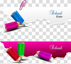 vários lápis, ilustração de lápis de escola de papel, lápis de cor decorativa criativa PNG clipart