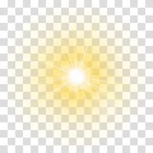 Glória da luz, sol dourado, luz solar PNG clipart