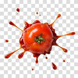 tomate em ketchup, tomate Pizza Pasta Ketchup, tomate splash png