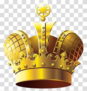 Coroa, coroa de ouro, ilustração de coroa de ouro PNG clipart
