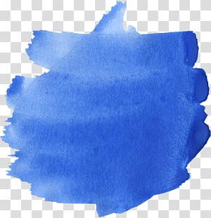 Pintura azul da aguarela azul, aguarela azul png