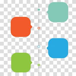 quatro caixas de texto, ícone, caixa de diálogo Linha do tempo padrão decorativo de PPT PNG clipart