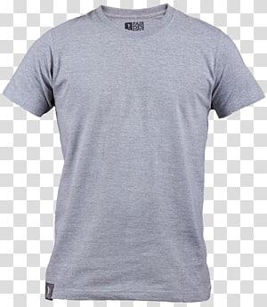 camiseta cinza com gola redonda, manga da camiseta, camisa polo cinza PNG clipart