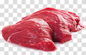 quatro fatias de carne crua, carne moída de carne Halal bife, carne de bife cru HD PNG clipart