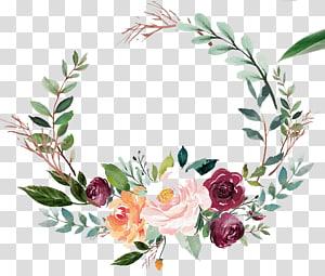 texto religioso da etiqueta do vinho da Bíblia, aguarela floral da grinalda png