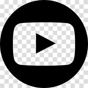ícones de computador de logotipo do youtube, youtube, botão de play preto PNG clipart