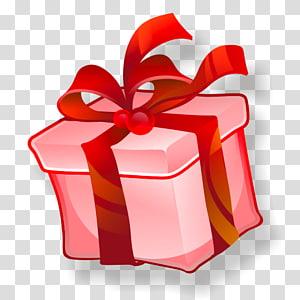 ilustração de caixa de presente vermelha e branca, presente, Regalo PNG clipart