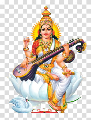 ilustração do deus hindu, shiva ganesha saraswati basant panchami devi, deus PNG clipart