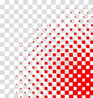 Círculo de meio-tom, sombreamento de gradiente quadrado PNG clipart