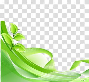 Euclidiano verde, folhas verdes material dinâmico de fundo, ilustração de plantas png