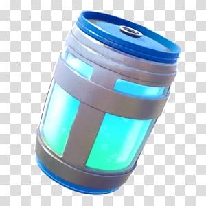 ilustração de barril de plástico cinza e azul, fortnite batalha royale jarro suco batalha royale jogo, suco png