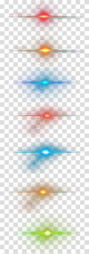 Estrela de iluminação, efeitos de luz legais, luzes LED multicoloridas PNG clipart