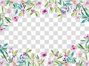 Pintura em aquarela, aquarela flores pequenas bordas frescas, rosa floral PNG clipart