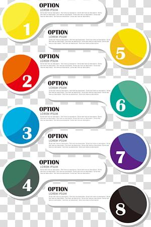 Ícone de apresentação infográfico, material de infográficos de negócios, sobreposições de texto opção PNG clipart
