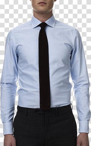 homem vestindo camisa branca, gravata camisa de terno gravata preta terno, camisa de vestido PNG clipart
