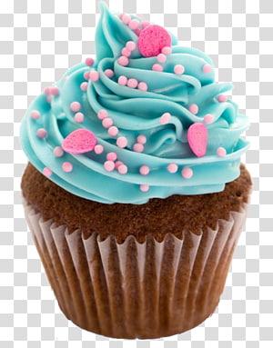 cupcake com coberturas, Cupcake Frosting & Glacê Bolo de chocolate Bolo de aniversário Profiterole, Cupcakes png