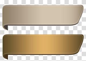 Fita ouro, marrom conjunto de Banners, logotipo bege e marrom PNG clipart